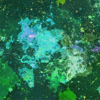 Towels - Jade Nebula Galaxy Abstract