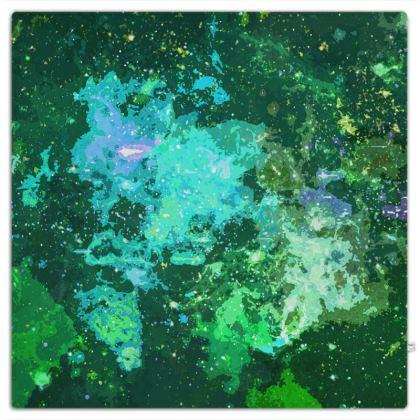 Picnic Blanket - Jade Nebula Galaxy Abstract