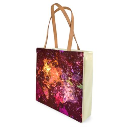 Beach Bag - Orange Nebula Galaxy Abstract