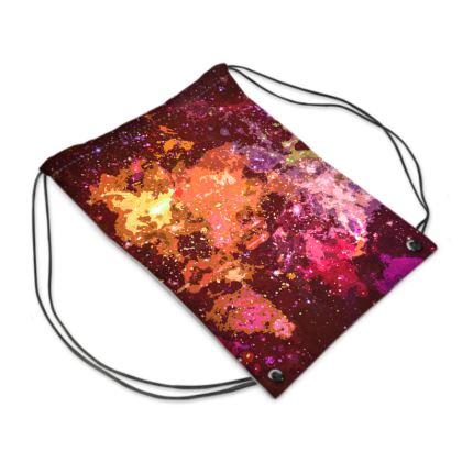 Swim Bag - Orange Nebula Galaxy Abstract