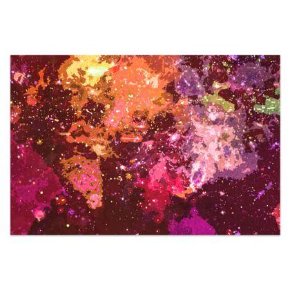 Sarong - Orange Nebula Galaxy Abstract