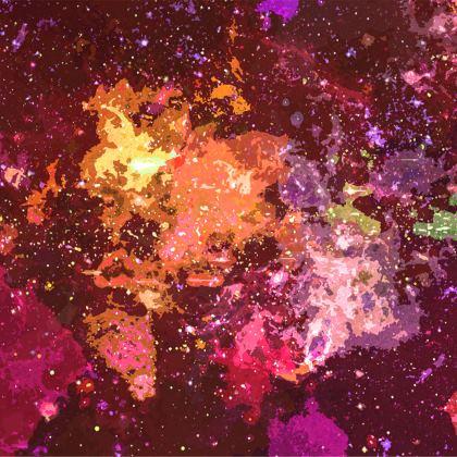 Towels - Orange Nebula Galaxy Abstract