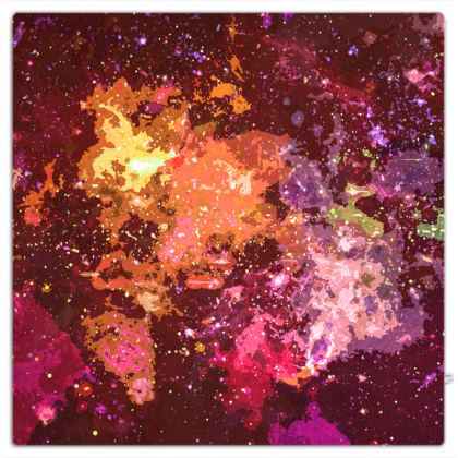 Picnic Blanket - Orange Nebula Galaxy Abstract