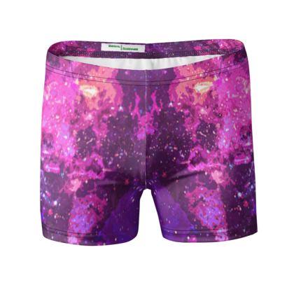 Swimming Trunks - Pink Nebula Galaxy Abstract