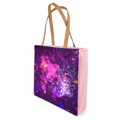 Beach Bag - Pink Nebula Galaxy Abstract