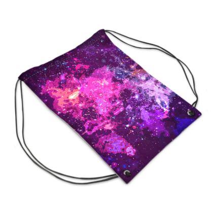 Swim Bag - Pink Nebula Galaxy Abstract