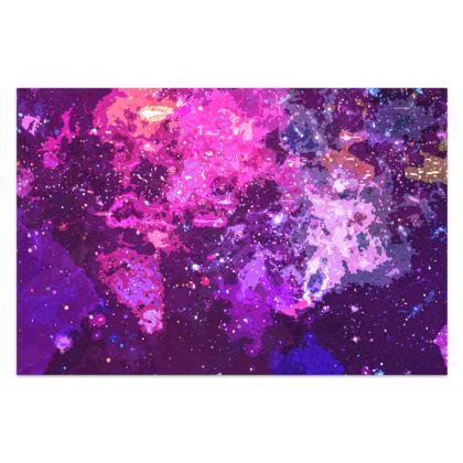 Sarong - Pink Nebula Galaxy Abstract