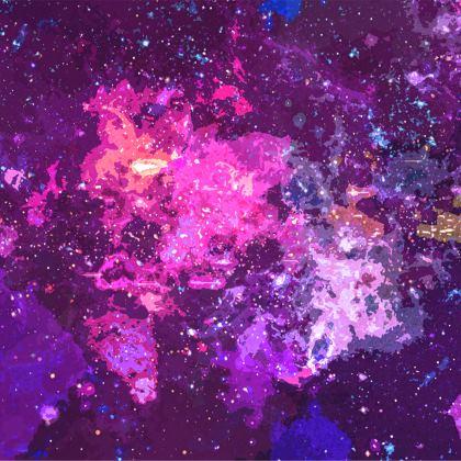 Towels - Pink Nebula Galaxy Abstract