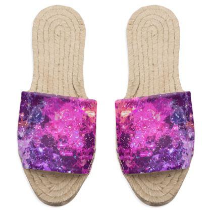 Sandal Espadrilles - Pink Nebula Galaxy Abstract
