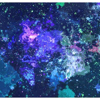 Men's Swimming Shorts - Purple Nebula Galaxy Abstract