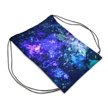 Swim Bag - Purple Nebula Galaxy Abstract