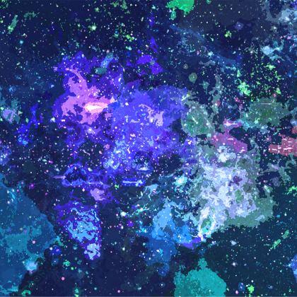 Towels - Purple Nebula Galaxy Abstract
