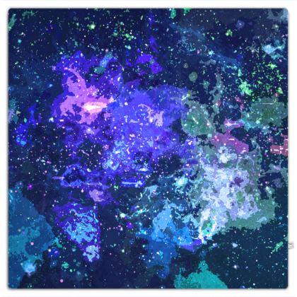 Picnic Blanket - Purple Nebula Galaxy Abstract