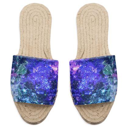 Sandal Espadrilles - Purple Nebula Galaxy Abstract