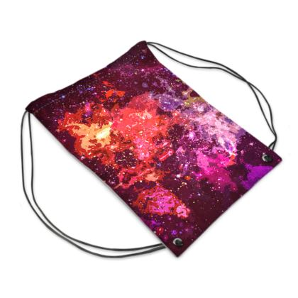 Swim Bag - Red Nebula Galaxy Abstract