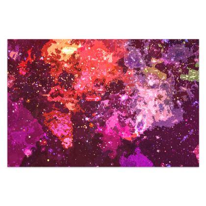 Sarong - Red Nebula Galaxy Abstract