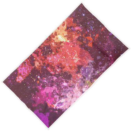 Towels - Red Nebula Galaxy Abstract