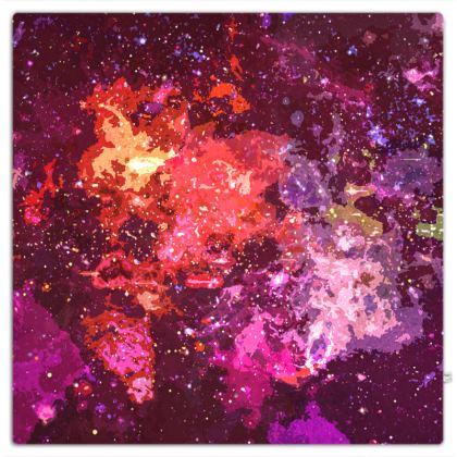 Picnic Blanket - Red Nebula Galaxy Abstract