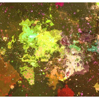 Men's Swimming Shorts - Yellow Nebula Galaxy Abstract