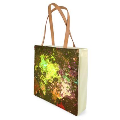 Beach Bag - Yellow Nebula Galaxy Abstract