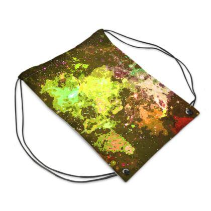 Swim Bag - Yellow Nebula Galaxy Abstract