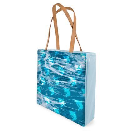 Beach Bag - Shark Ocean Abstract