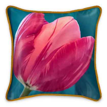 Silk Pillows - Broken Tulip
