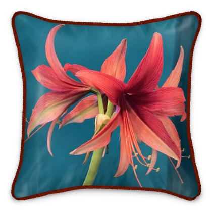 Silk Pillows - Amaryllis 'Bogota'