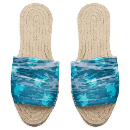 Sandal Espadrilles - Shark Ocean Abstract