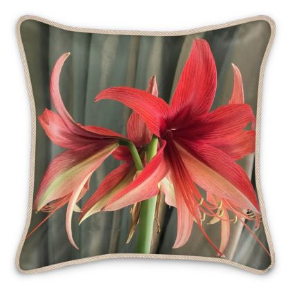 Silk Pillows - Elegant Amaryllis