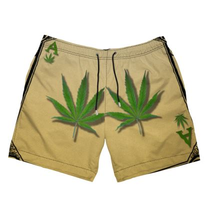 Men's Swimming Shorts - Ace of Weed Full