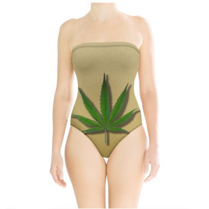 Strapless Swimsuit - Ace of Weed Full