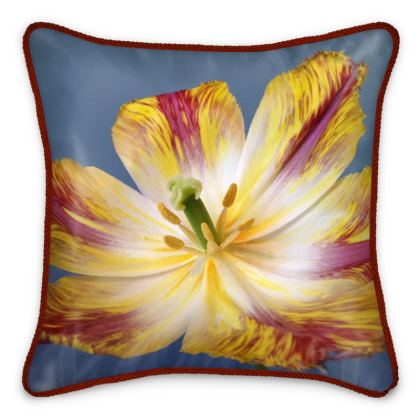 Silk Pillows - Flying Parrot Tulip