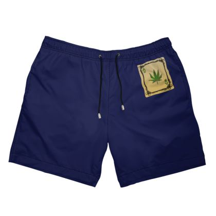 Men's Swimming Shorts - Ace of Weed