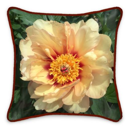 Silk Pillows - Yellow Itoh Peony