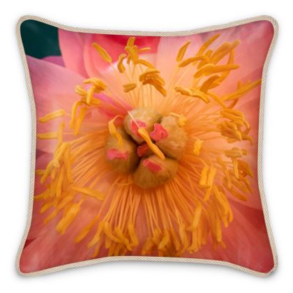 Silk Pillows - Peony 'Coral Charm'