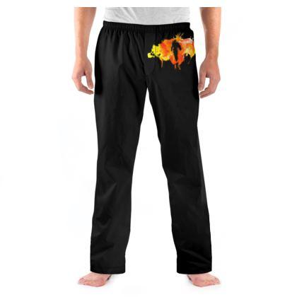 Mens Pyjama Bottoms - Fire Man