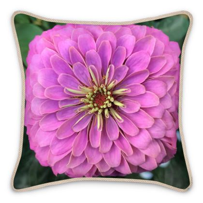 Silk Pillows - Pink Zinnia