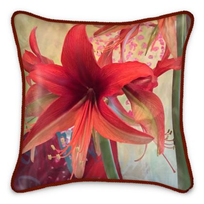 Silk Pillows - Stunning Amaryllis