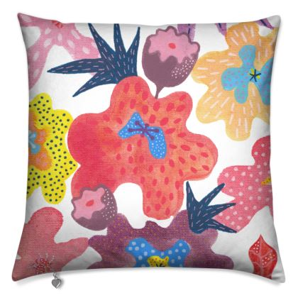 Cushion Berrylicious hand painted floral abstract