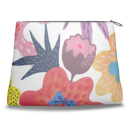 Clutch Bag Berrylicious hand painted floral abstract