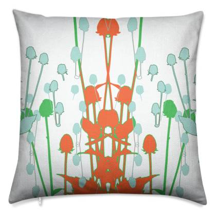 Tangerine Teasel Luxury Cushion