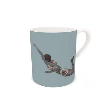 Victorian mermaid mug