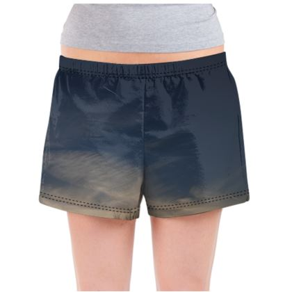 Ladies Pyjama Shorts - Low Sunset