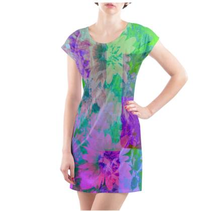 Lilac & Lime T-Shirt Dress - UK Size 18/20 (XL)