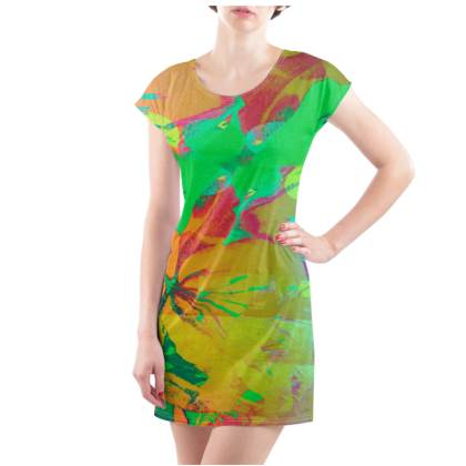 Mango & Lime T-Shirt Dress - UK Size 18/20 (XL)