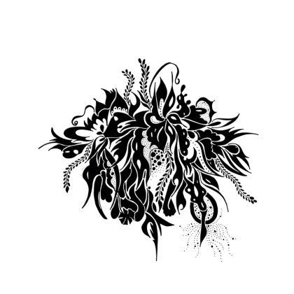 Skater dress - Skater Klänning - Ink Black Summer Feeling White