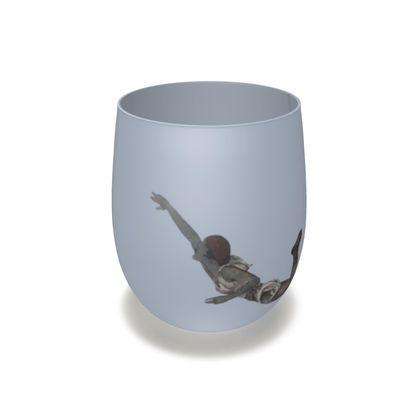 Victorian mermaid water glass