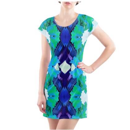 Blue Lagoon T-Shirt Dress - Size 18/20