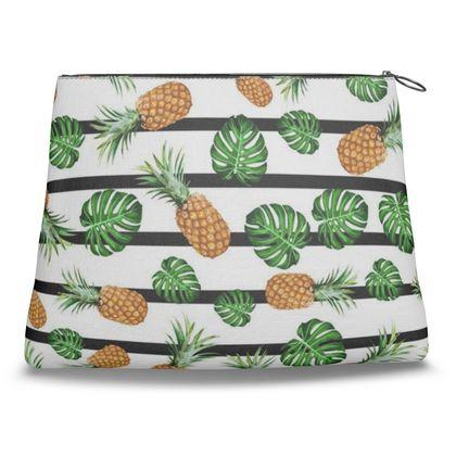 Cheeseplants & Pineapples Clutch Bag